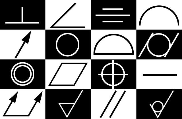 幾何公差の記号の画像(SVG形式・PNG形式)
