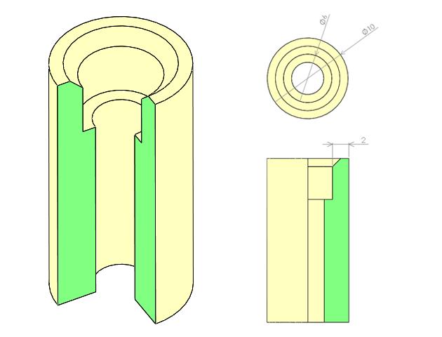 光造形サンプル品の形状
