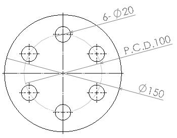 P.C.D.ピッチ円直径